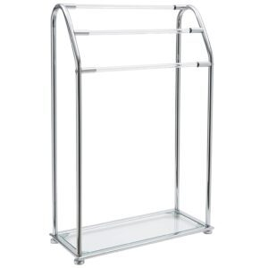 Organize It All 3-Bar Bathroom Towel Drying Rack and Holder with Shelf – Price Drop – $23.99 (was $39.96)