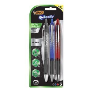 3-Pack BIC Gel-ocity Ultra Retractable Gel Pen – Price Drop – $2.50 (was $6.99)