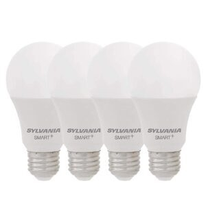 4-Pack SYLVANIA Smart+ Wi-Fi Dimmable A19 LED Light Bulb – Price Drop – $23.99 (was $29.99)