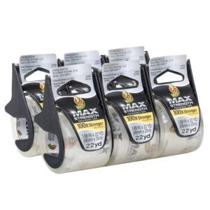 6-Pack Duck MAX Strength Packing Tape With Dispenser – Price Drop – $10.77 (was $16.96)