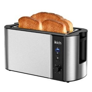ikich 4-Slice 6-Browning Settings Toaster – Clip Coupon + Coupon Code 6TDU9OFM – $29.63 (was $49.59)