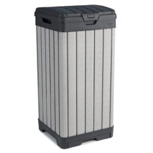 Keter Rockford Resin 38 Gallon Trash Can with Lid and Drip Tray – Price Drop – $62.98 (was $84.16)