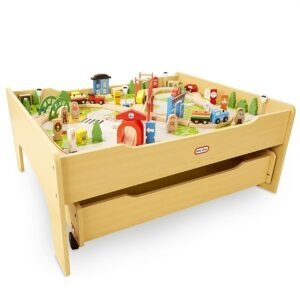 Little Tikes Real Wooden Train Table Set for Kids – Price Drop – $76.99 (was $109.99)