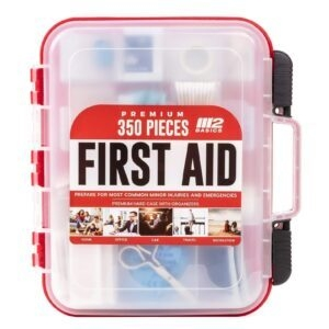 M2 BASICS 350-Piece Emergency First Aid Kit – Price Drop + Clip Coupon – $27.97 (was $34.88)