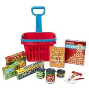 Melissa and Doug Fill and Roll Grocery Basket Play Set – Price Drop – $8.99 (was $17.91)