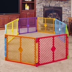 Toddleroo Superyard Colorplay 8-Panel Baby Play Yard – Price Drop – $37.49 (was $99.99)