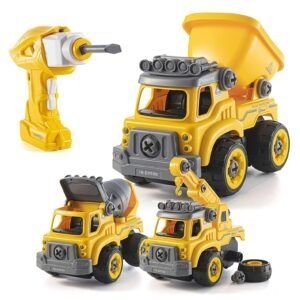Top Race Construction Truck Take Apart Toys with Electric Drill – Price Drop – $28.04 (was $38.99)