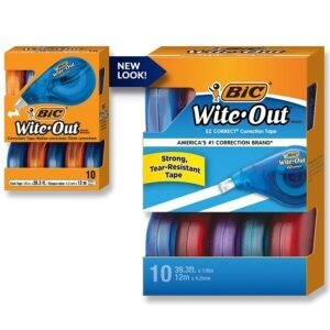 10-Count BIC Wite-Out Brand EZ Correct Correction Tape – Price Drop – $9.60 (was $14.08)
