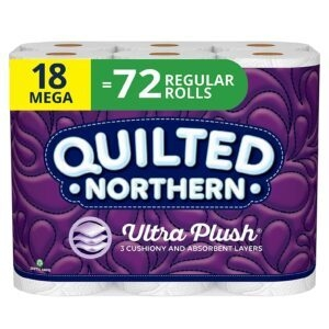 18 Mega Rolls Quilted Northern Bathroom Tissue – Price Drop – $14.69 (was $17.48)