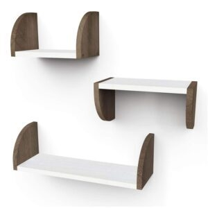 3 Emfogo Rustic Wood Wall Mounted Shelves – Coupon Code 50E1LVKG – Final Price: $13.49 (was $26.99)