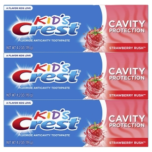 3-Pack Crest Kid's Cavity Protection Fluoride Toothpaste – Price Drop – $4.17 (was $10.32)