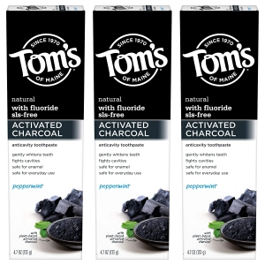 3-Pack Tom's of Maine Activated Charcoal Whitening Toothpaste with Fluoride – Price Drop – $11.79 (was $14.99)
