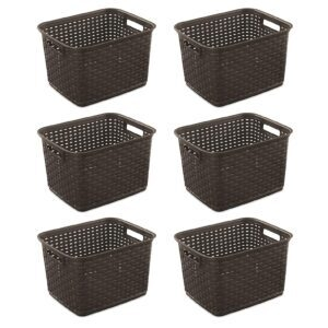 6-Pack Sterilite Tall Weave Basket – Price Drop – $27.37 (was $37.70)