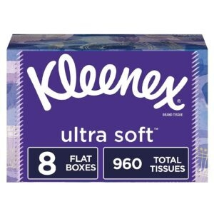 8-Pack Kleenex Ultra Soft Facial Tissues – Price Drop – $12.35 (was $13.99)