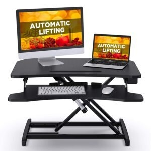ABOX Electric Powered Stand Desk Riser  – $99.99 – Clip Coupon – (was $199.99)