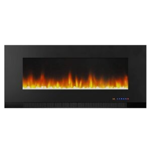 Amazon Basics Wall-Mounted Recessed Electric Fireplace – Price Drop – $271.73 (was $335.62)