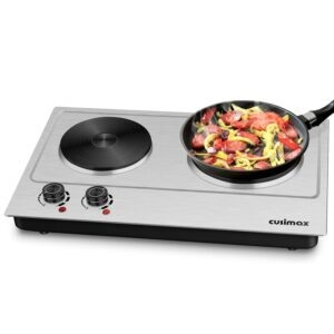 Cusimax Double Burner Hot Plate – $50.97 – Clip Coupon – (was $65.97)
