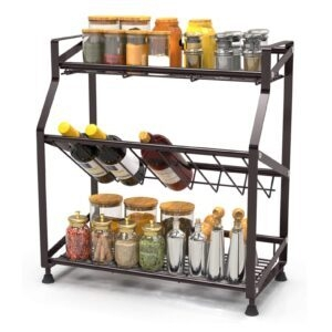 iSPECLE 3-Tier Countertop Organizer Rack – Coupon Code U4RB5YJ2 – Final Price: $15.99 (was $32.99)