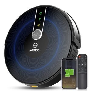 MOOSOO Robot Vacuum with Mapping Technology – Lightning Deal + Clip Coupon – $127.09 (was $225.99)
