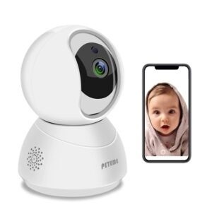 Peteme 1080P WiFi Baby Monitor – $19.99 – Clip Coupon – (was $29.99)