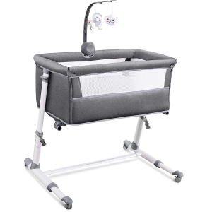 RONBEI Newborn Bedside Bassinet with Wheels – Coupon Code 4N6LXWXT – Final Price: $119.99 (was $199.99)