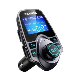 VicTsing Bluetooth FM Transmitter for Car – Clip Coupon + Coupon Code KBYGGFVL – $8.99 (was $16.99)