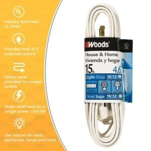 Woods 15-Foot Cube Extension Cord with Power Tap – Price Drop – $2.49 (was $4.49)