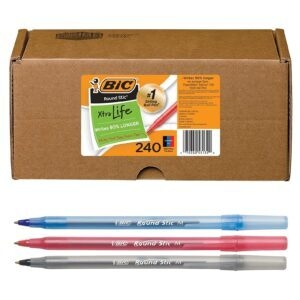 240 Assorted BIC Round Stic Xtra Life Ballpoint Pens – Coupon Code 50240AST – Final Price: $10.99 (was $21.99)