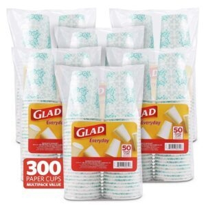 300-Count Glad Heavy Duty Disposable Paper Cups – Price Drop – $21.53 (was $50.05)