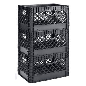 3-Pack Muscle Rack Heavy Duty Stackable Dairy Milk Crates – Price Drop – $27.98 (was $54.90)