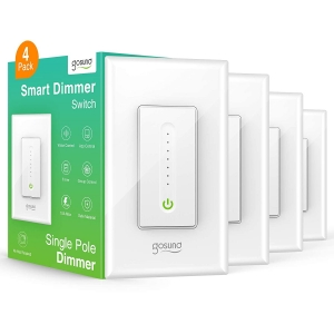 4-Pack Gosund Smart WiFi Light Dimmer Switch – Clip Coupon + Coupon Code E7AMJMMV – $41.12 (was $68.99)