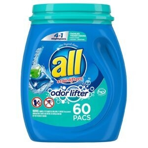 all 4-In-1 Mighty Pacs Laundry Detergent – $6.56 – Clip Coupon – (was $8.97)