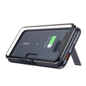 AUKEY Wireless Portable Charger 10000mAh with Foldable Stand – $27.99 – Clip Coupon – (was $39.99)