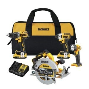 DEWALT 20V MAX XR Brushless 4-Tool Combo Kit – Price Drop – $299 (was $375.73)