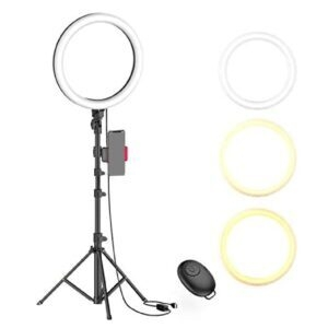 Erligpowht Ring Light with Tripod Stand and Phone Holder – Coupon Code VWDIUIAT – Final Price: $13.80 (was $29.99)