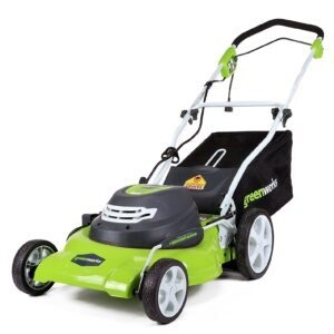 Greenworks 20-Inch 3-in-1 12 Amp Electric Corded Lawn Mower – Price Drop – $134.99 (was $204.80)