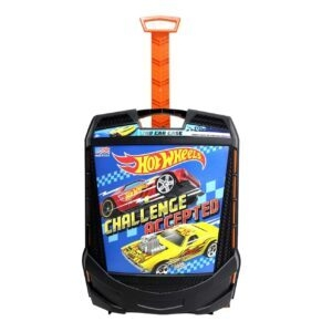 Hot Wheels 100-Car Rolling Storage Case with Retractable Handle – Price Drop + Clip Coupon – $13.49 (was $19.88)