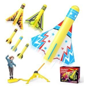 Jasonwell Toy Rocket Launcher for Kids – Lightning Deal + Clip Coupon – $9.61 (was $17.99)