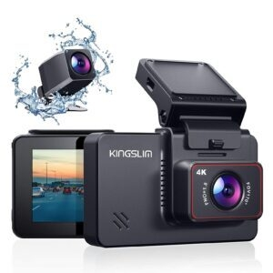 Kingslim D4 4K Dual Dash Cam with Sony Starvis Sensor – $69.99 – Clip Coupon – (was $99.99)
