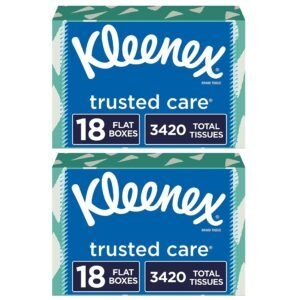 Kleenex Trusted Care Facial Tissues – Add 2 to Cart – Price Drop at Checkout – $53.40 (was $68.40)