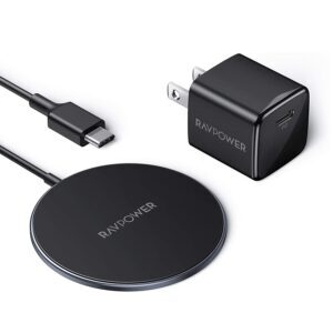 RAVPower Magnetic Wireless Charger – Price Drop + Clip Coupon – $22.79 (was $34.68)