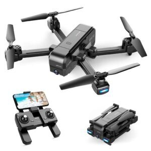 Snaptain Foldable GPS FPV Drone with 2.7K UHD Camera – Clip Coupon + Coupon Code 4EHSWKI5 – $115.99 (was $169.99)