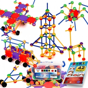 STEM Master 176-Piece Educational Construction Building Toy – Lightning Deal – $16.95 (was $21.95)