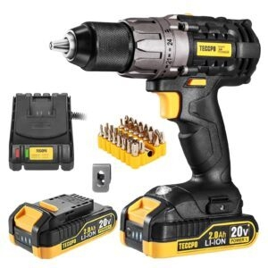 Teccpo 20V Cordless Drill Driver Kit – Clip Coupon + Coupon Code IWF5S4IE – $46.19 (was $69.99)