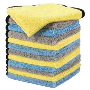 12-Pack Hotor Large and Thick Microfiber Cleaning Cloths – $9.99 – Clip Coupon – (was $19.99)
