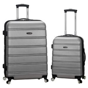 2-Piece Rockland Melbourne Hardside Expandable Spinner Luggage Set – Price Drop – $103.83 (was $340)