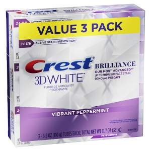 3-Pack Crest 3D White Brilliance Toothpaste – $9.99 – Clip Coupon – (was $14.99)