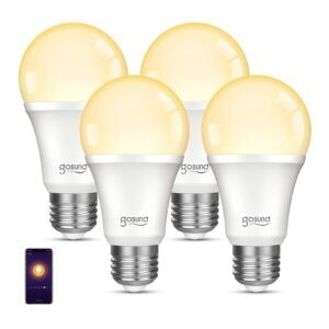 4-Pack Gosund Dimmable WiFi LED Light Bulb – Clip Coupon + Coupon Code 30PHME1Q – $13.99 (was $27.99)