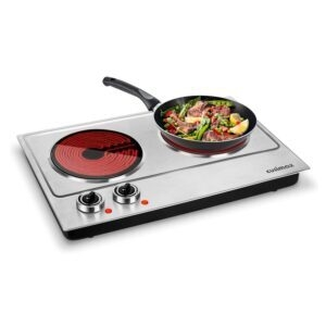 Cusimax Ceramic Electric Double Burner – Coupon Code 46H5MUUP – Final Price: $49.66 (was $91.97)