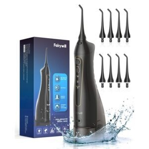 Fairywill Professional Cordless Water Flosser – Clip Coupon + Coupon Code 7F63F6TZ – $24.79 (was $35.99)